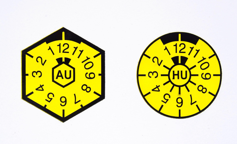 TÜV Plaketten für AU und HU